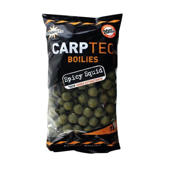 Dynamite Baits Carptec Boilies 1kg Spicy Squid 20mm