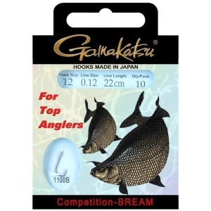 Gamakatsu Competition LS-1100B Bream 22cm 0,12mm Gr. 14