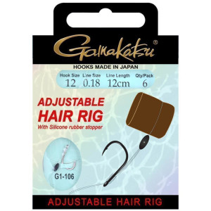 Gamakatsu BKS Adjustable Hair Rig 12cm 0,20mm Gr. 10