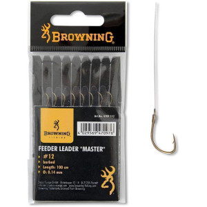 Browning # 18 Feeder-Vorfachhaken Master bronze 0,12mm 60cm
