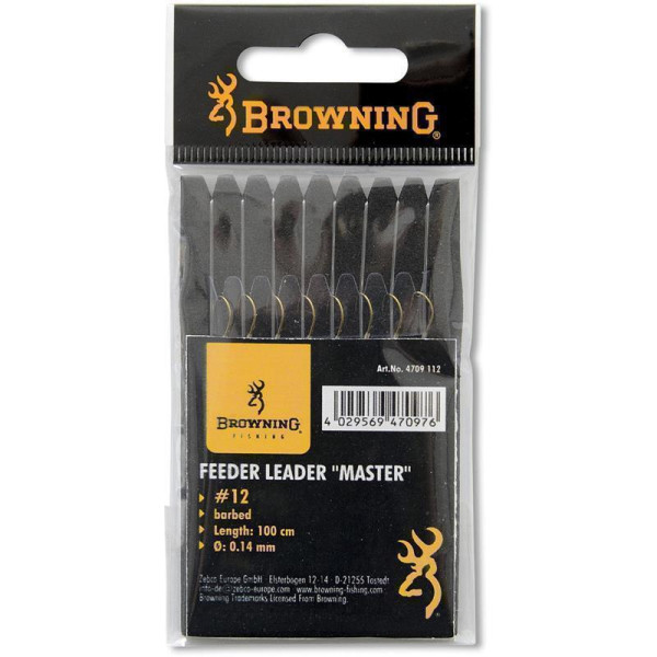 Browning # 18 Feeder-Vorfachhaken Master bronze 0,12mm 100cm