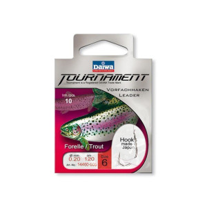 Daiwa Tournament Forellenhaken 120cm 0,18mm Gr. 10